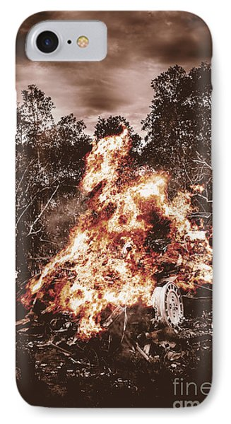 Car Bomb Inferno IPhone Case by Jorgo Photography - Wall Art Gallery