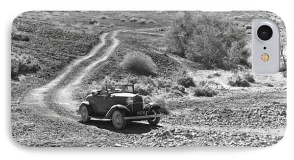 Car In The Desert IPhone Case by Underwood Archives