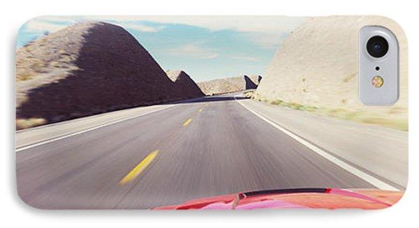 Car On A Road, Outside Las Vegas IPhone Case