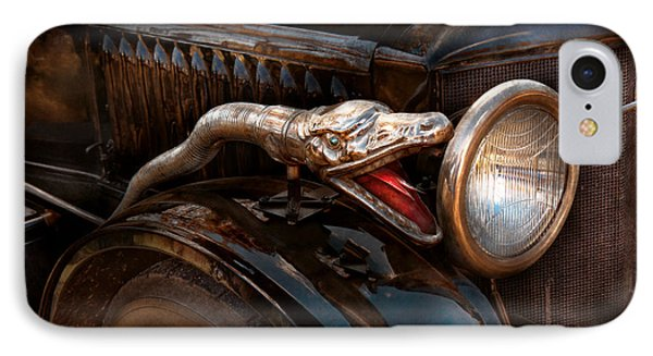 Car - Steamer - Snake Charmer  Phone Case by Mike Savad