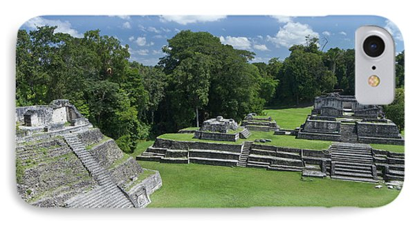 Caracol Ancient Mayan Site, Belize IPhone Case by William Sutton