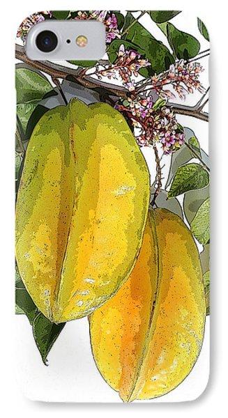 Carambolas Starfruit Two Up Phone Case by Olivia Novak