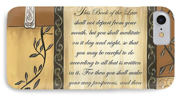 Dove iPhone 7 Case - Caramel Scripture by Debbie DeWitt