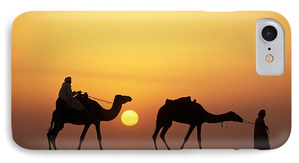 Desert Sunset iPhone 7 Case - Caravan Morocco by Panoramic Images