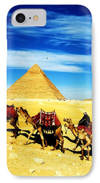 Caravan Of Camels 2 IPhone Case by Alison Tomich