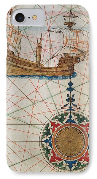 Caravel In Ocean IPhone Case by Lazaro Luis