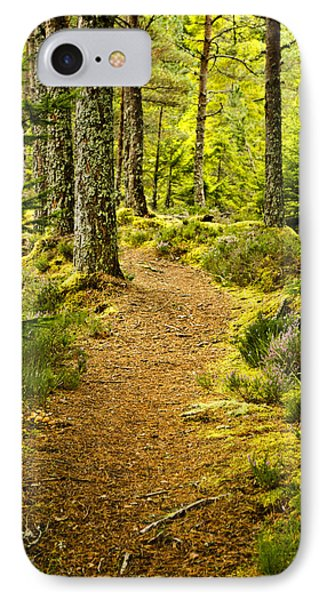 IPhone Case featuring the photograph Carbisdale Path Scotland by Sally Ross