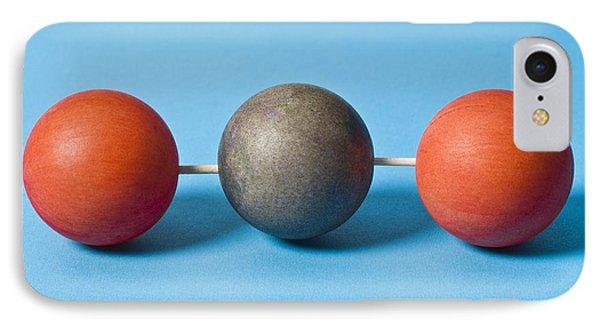 Carbon Dioxide Molecule Phone Case by Martyn F. Chillmaid