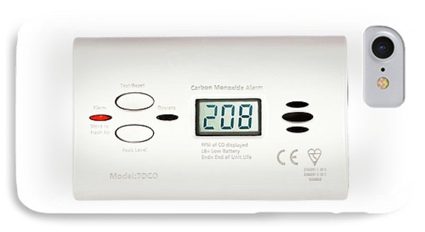 Carbon Monoxide Alarm IPhone Case by Cordelia Molloy