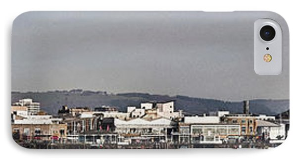 Cardiff Bay Panorama 2 IPhone Case by Steve Purnell