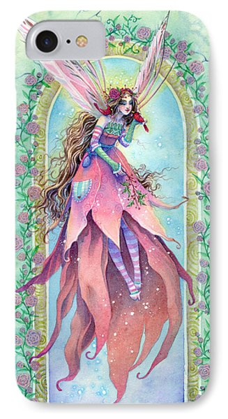 Cardinal Fairy Phone Case by Sara Burrier