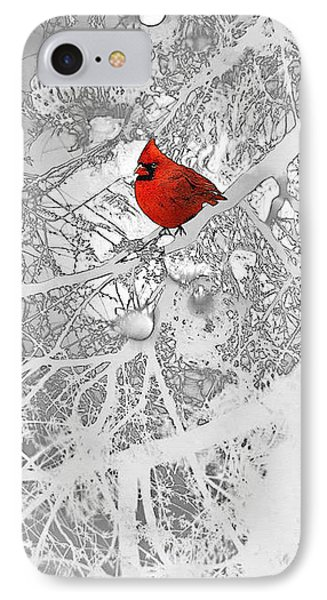 Cardinal In Winter IPhone 7 Case by Ellen Henneke