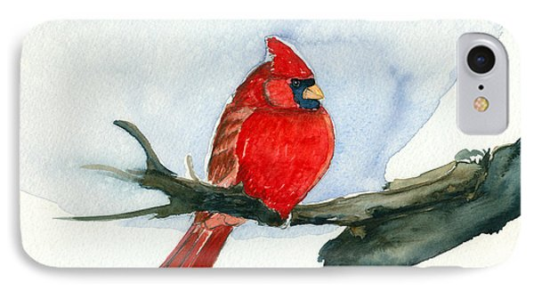 IPhone Case featuring the painting Cardinal by Katherine Miller