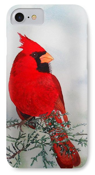 IPhone Case featuring the painting Cardinal by Laurel Best