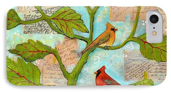 Cardinal Love Notes IPhone Case