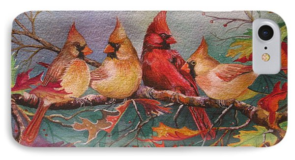 Cardinal Musings Phone Case by Cheryl Borchert