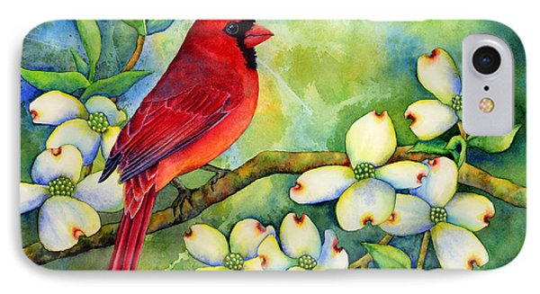 Cardinal On Dogwood IPhone 7 Case by Hailey E Herrera