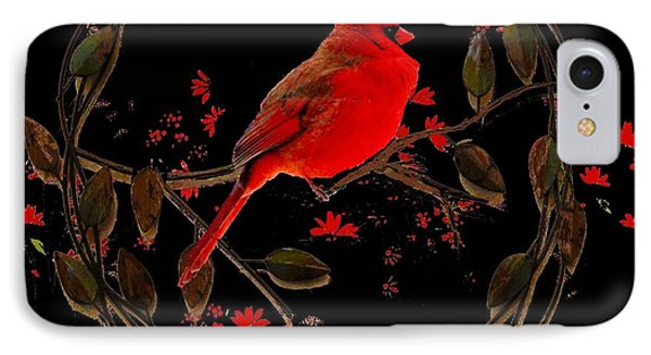 Cardinal On Metal Wreath IPhone Case