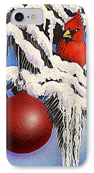 Cardinal One Ball IPhone Case by Darren Robinson