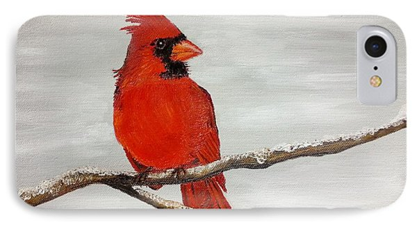Cardinal IPhone Case by Valorie Cross