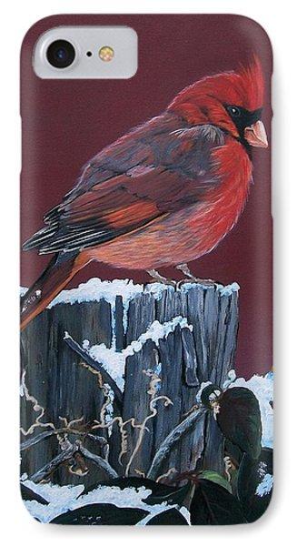 Cardinal Winter Songbird Phone Case by Sharon Duguay