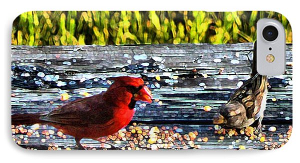 Cardinal Wren IPhone Case by Terence Morrissey