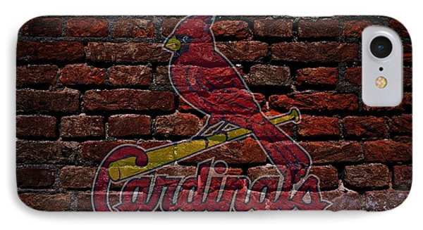 Cardinals Baseball Graffiti On Brick  IPhone Case by Movie Poster Prints