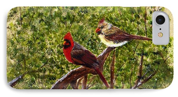 Cardinals IPhone Case by Catherine Swerediuk