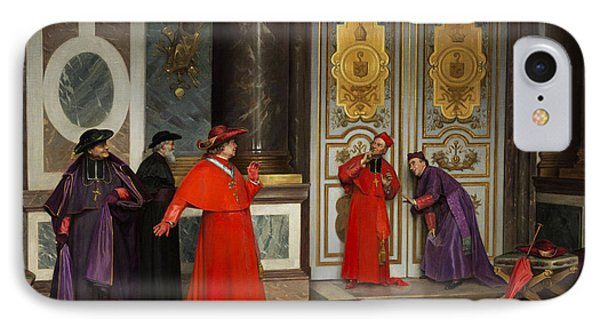 Cardinals In The Hall Of The Vatican IPhone Case by Henri Adolphe Laissement
