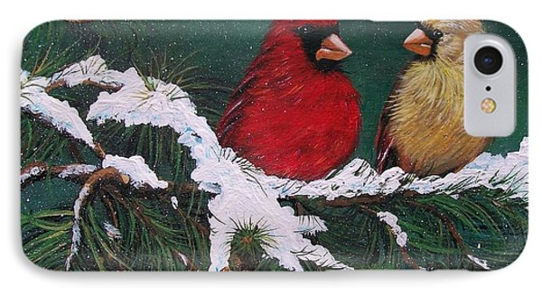 Cardinals In The Snow IPhone Case