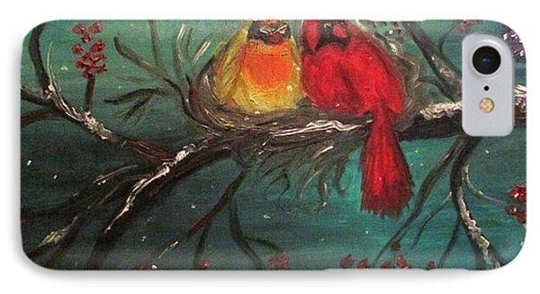 Cardinals Winter Scene IPhone Case