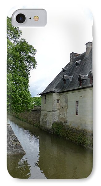 Caretaker Cottage On The Canal At Chenonceau IPhone Case by Susan Alvaro