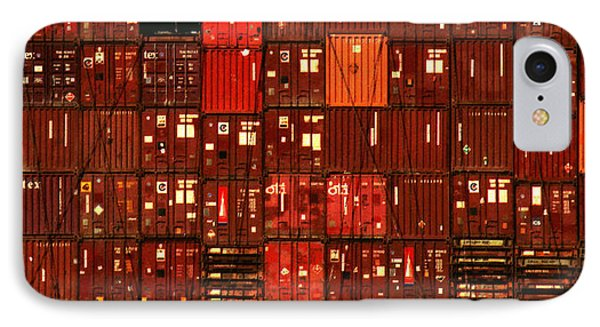 Cargo Containers Port Of Seattle IPhone Case by David Gilbert