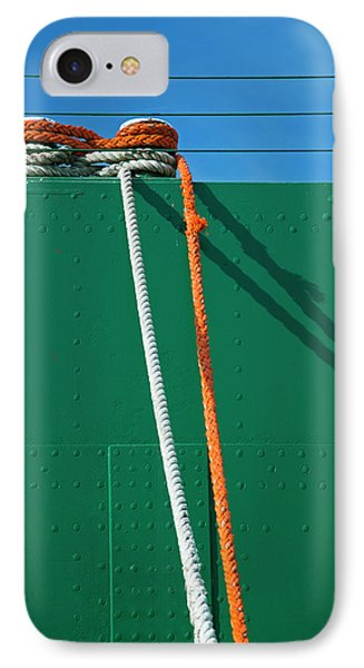 Cargo Ship Mooring Line IPhone Case by Jim West