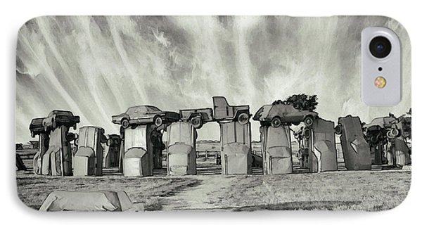 Carhenge Revival IPhone Case by Kristal Kraft
