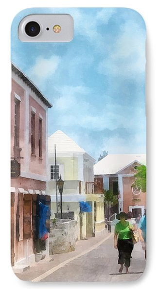 Caribbean - A Street In St. George's Bermuda Phone Case by Susan Savad