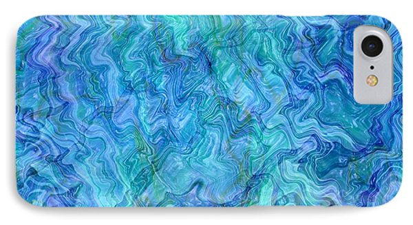 Caribbean Blue Abstract Phone Case by Carol Groenen