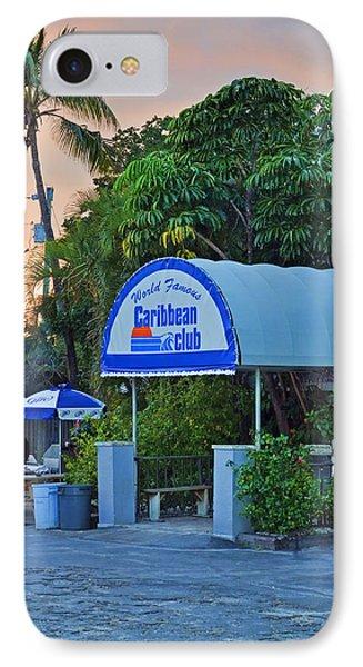 Caribbean Club Key Largo Phone Case by Chris Thaxter