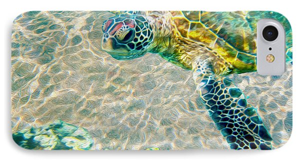 Beautiful Sea Turtle IPhone Case by Jon Neidert