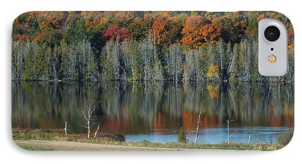 Caribou Lake Reflected IPhone Case by Gene Cyr