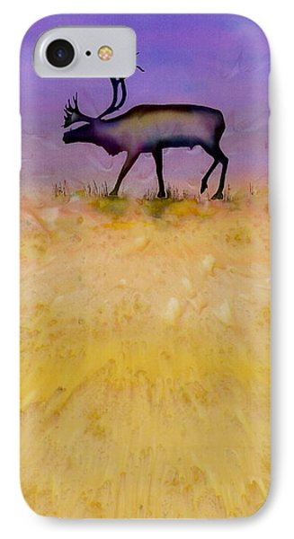 Caribou On The Tundra 2 Phone Case by Carolyn Doe