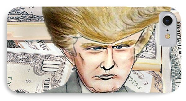 Caricature Of Donald Trump IPhone Case by Jim Fitzpatrick