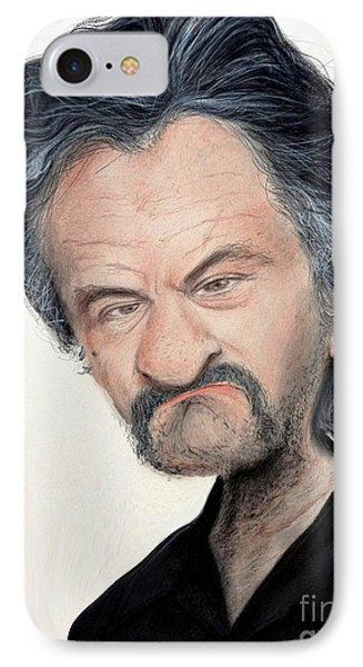 Caricature Of Robert De Niro As Louis Gara In The Movie Jackie Brown IPhone Case by Jim Fitzpatrick