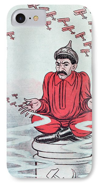 Caricature Of Stalin Phone Case by Adrien Barrere
