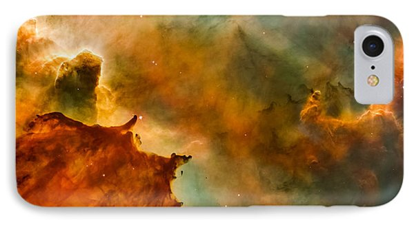 Carina Nebula Details - Great Clouds IPhone Case by Marco Oliveira