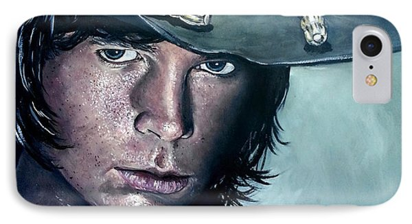 Carl Grimes IPhone Case by Tom Carlton