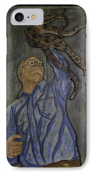 Carl Porter - Serpent Handling Preacher IPhone Case by Eric Cunningham