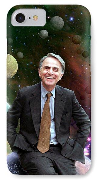 Carl Sagan IPhone Case by Nasa/jpl-caltech