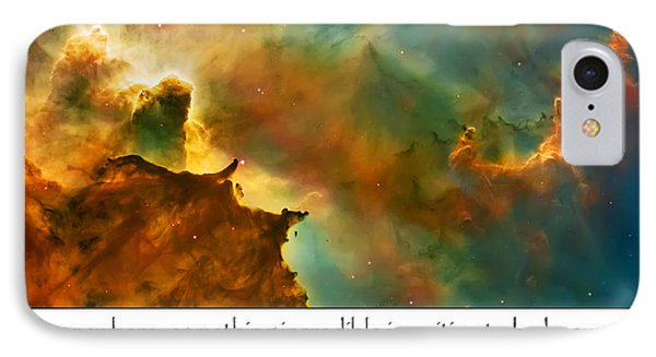 Carl Sagan Quote And Carina Nebula 2 IPhone Case by Jennifer Rondinelli Reilly - Fine Art Photography
