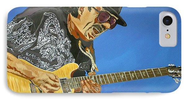 Carlos Santana-magical Musica Phone Case by Bill Manson